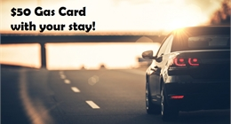 $50 Gas Card with Stay